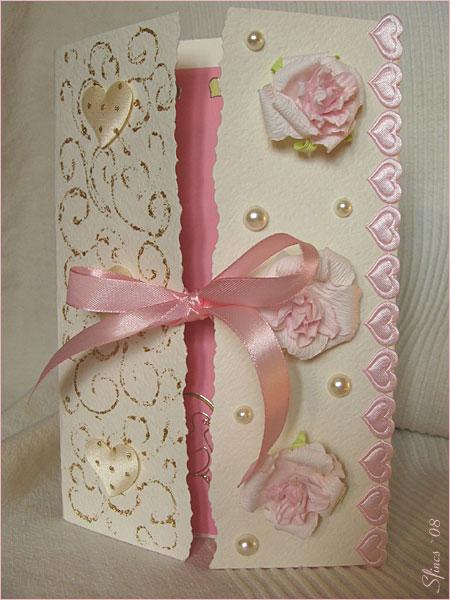 Как сделать открытку на свадьбу из бумаги - Spbgal.ru