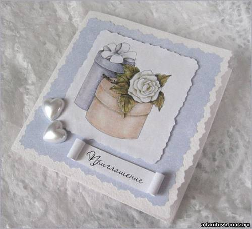 Приглашение на свадьбу жемчужные